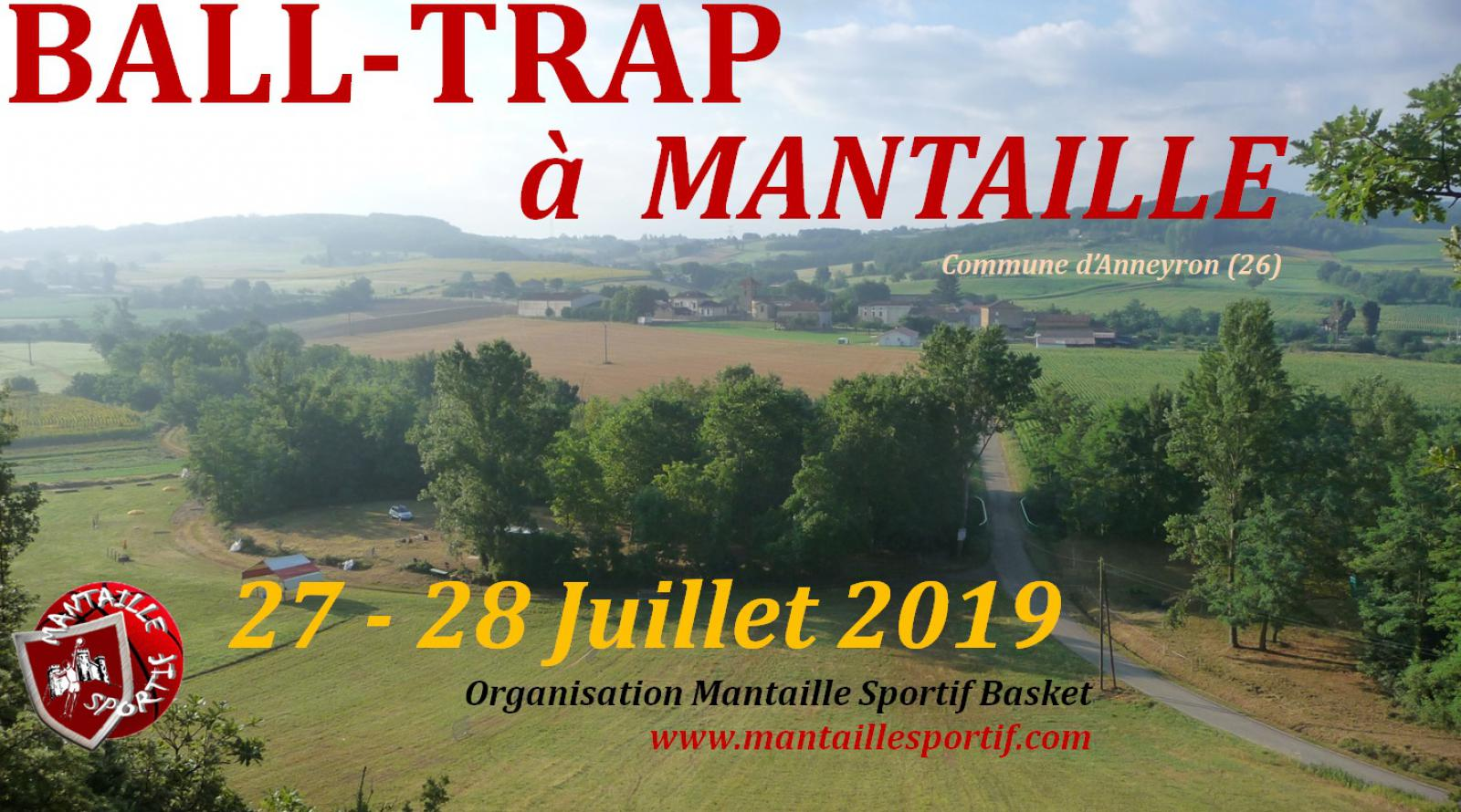 Ball-trap à Mantaille - 27 & 28 juillet 2019