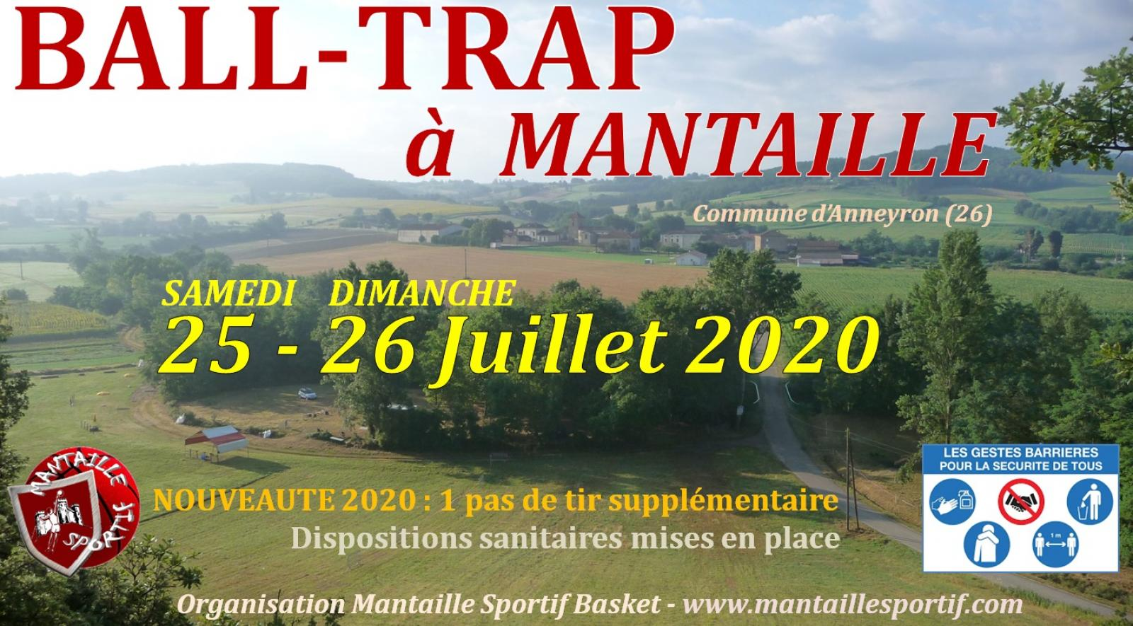 Ball trap à Mantaille 25-26 Juillet 2020